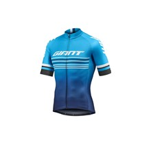 GIANT Race Day S/S Jersey-cyan/navy-M