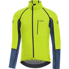 GORE C7 WS Pro Zip-Off Jersey-citrus green/deep water blue-M