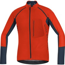 GORE Alp-X Pro WS Soft Shell Zip-Off Jersey-orange.com/black iris-M