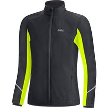 GORE R3 Women GTX Infinium Partial Jacket-black/neon yellow-40